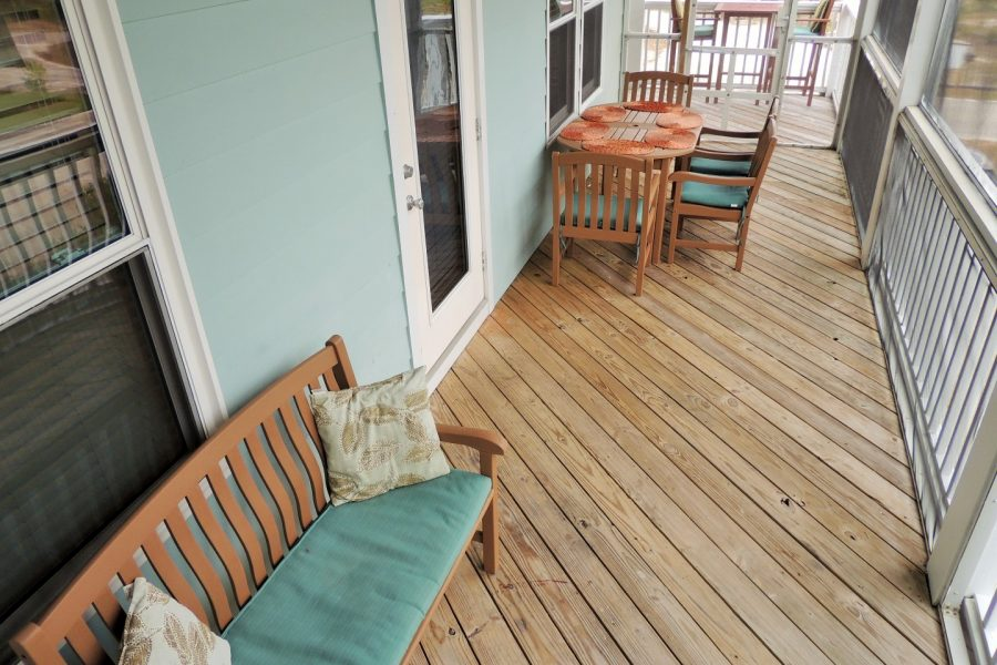 Three Palms-Screened in Deck, Connecting to Kitchen-With Gulf of Mexico Views