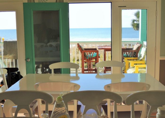 View of Deck and Gulf of Mexico from Dining and Kitchen Area