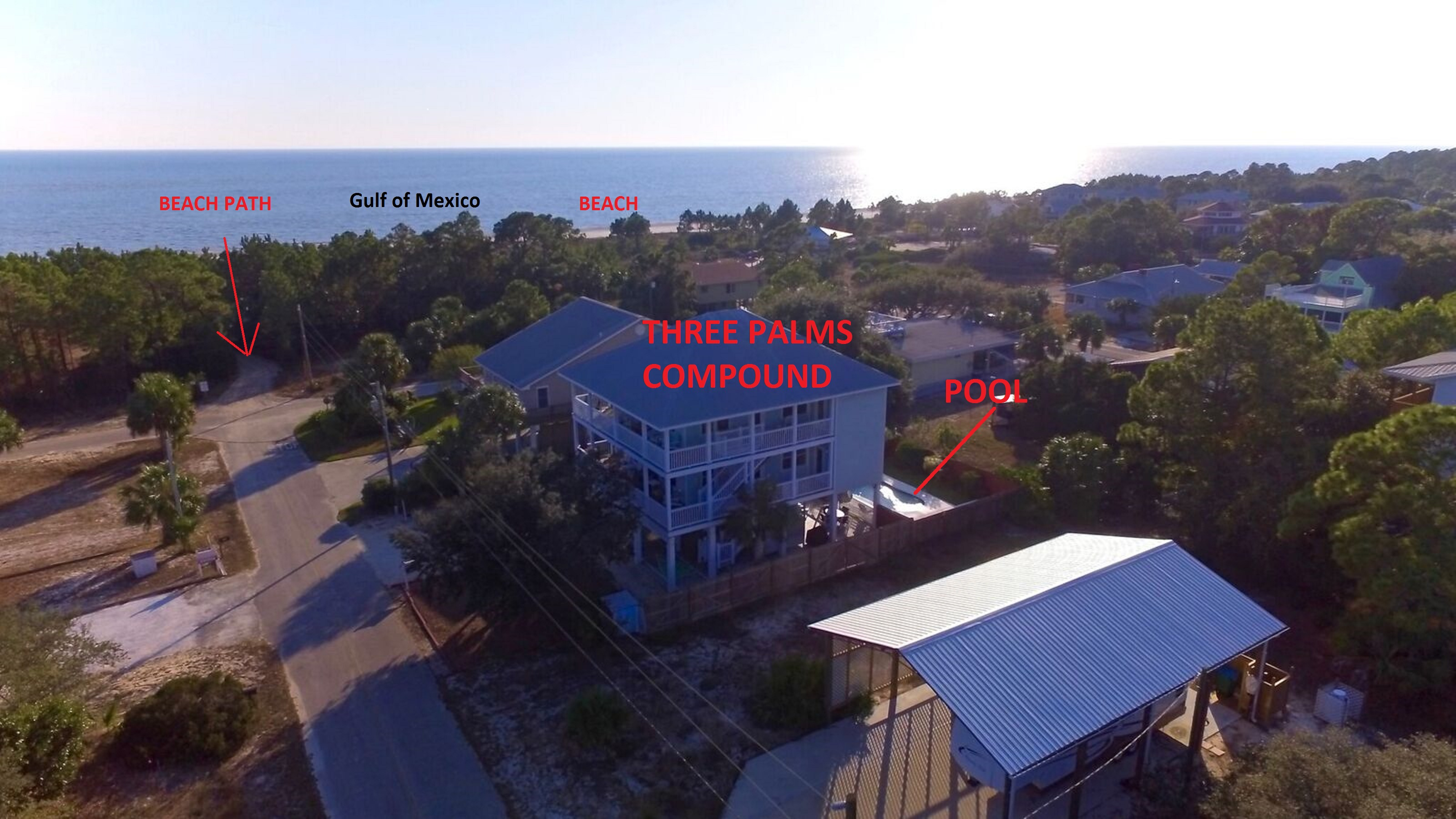Three Palms Drone Aerial Photo of Area
