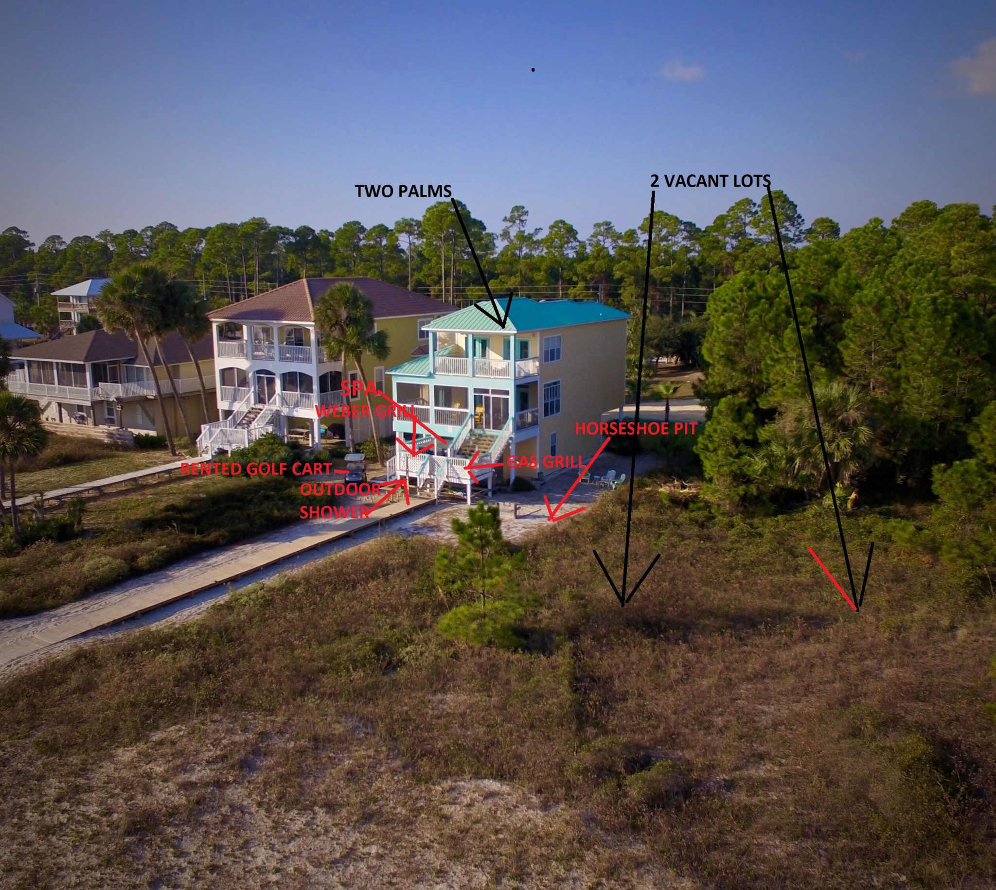 Drone Panoramic Photo of Two Palms Villa