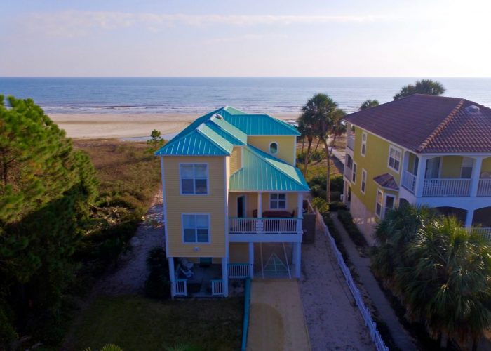 Two Palms Villa- Drone from Road Closest- Great Photo