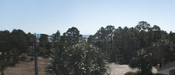 Three Palms View From Deck of Beach and Gulf of Mexico