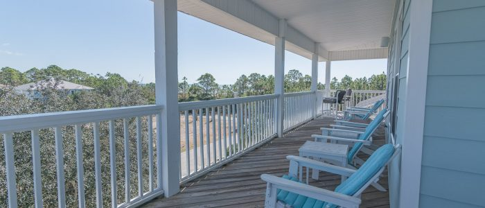 Top Floor Open Deck-Facing East and South-Gulf Views-Gorgeous and Unobstructed Vistas of Beach