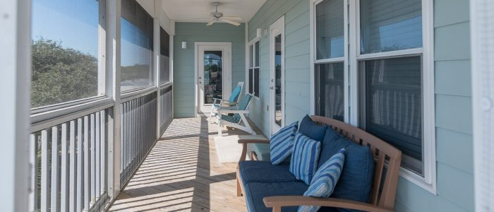 Top Floor Screened in Deck-Facing the Gulf of Mexico-Opens to King Bedroom and Great Room.