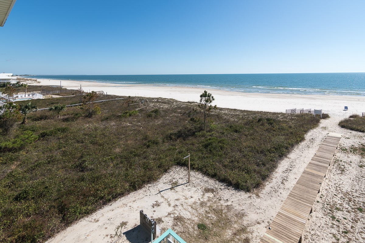 Beautiful Vista of Gulf and Beach from Two Palms Deck