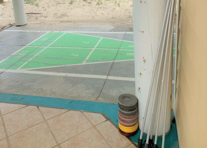 Shuffleboard, Poles, and Discs