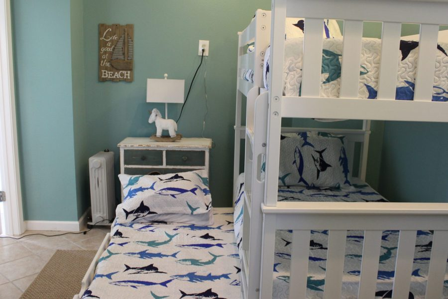 Kids' Room Ground Floor - View from Bathroom - Pull-out Trundle Bed makes 3 beds
